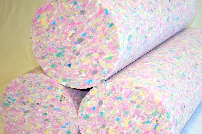 Rebonded foam rolls